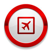 Plane icon — Stock Vector