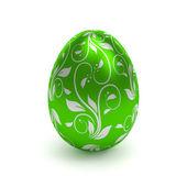 Green easter egg — Stock Photo