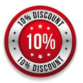 10  percent discount — Stock Vector