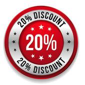 20 procent korting — Stockvector