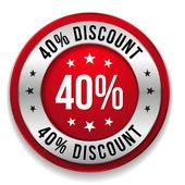 40 percent discount — Stock Vector