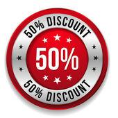 50 percent discount — Stock Vector
