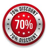 70 percent discount — Stock Vector