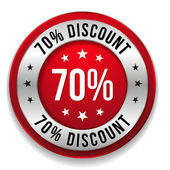 70 procent korting — Stockvector