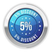 5  percent discount — Stock Vector