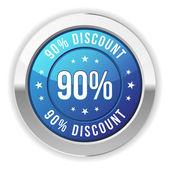 90  percent discount — Stock Vector