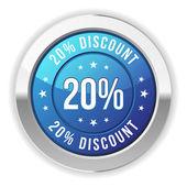 20  percent discount — Stock Vector