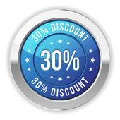 30 percent discount — Stock Vector