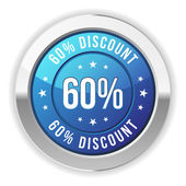 60 % sleva — Stockvektor