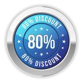 80 percent discount — Stock Vector