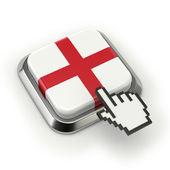 England flag button — Stock Photo
