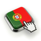 Portuguese flag button — Stock Photo