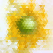 Flor amarela — Vetor de Stock