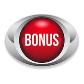 Red oval bonus button — Stockvektor