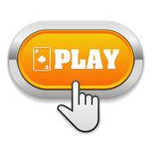 Giocare a pulsante con cursore — Vettoriale Stock