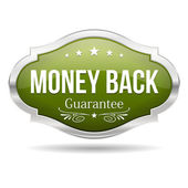 Money back badge — Stock Vector