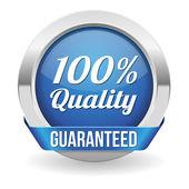 Hundred percent quality button — Cтоковый вектор