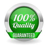 Hundred percent quality button — ストックベクタ