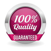 Hundred percent quality button — Stock Vector