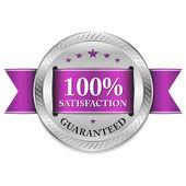 Metallic satisfaction badge — Stock vektor