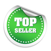 Top seller sticker with chrome peel — Stock Vector