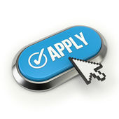 Apply button with metallic border — Stock Photo