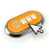 Yellow world wide web button — Stockfoto