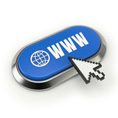 World wide web button — Foto de Stock
