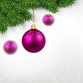 Christmas balls with snowflakes — Stock Vector