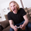 Winning at video games — Stock Photo