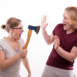 Violent woman — Stock Photo