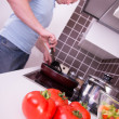 Preparing healthy dinner — Stock Photo