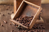 Old broken coffee grinder — Stock Photo