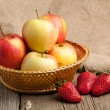 Strawberries and apples — Stock Photo #19925449