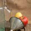 Still-life with tow old bottles - Foto Stock