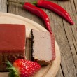 Pate with strawberry jally - Stock Photo