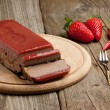 Pate with strawberry jelly - Stock Photo