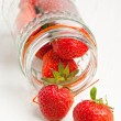Pot of fresh strawberry — Stock Photo
