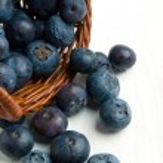 Basket of fresh blueberries — Stock Photo #20004459