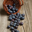 Basket with fresh blueberry — Stock Photo