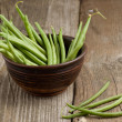 Green beans in ceramic bowl - Lizenzfreies Foto