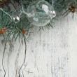 Silver christmas balls — Stock Photo