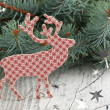 Christmas deer - Stock Photo