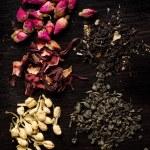 Dry tea variation — Stock Photo