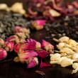 Buds of dried roses and jasmine - Stock Photo