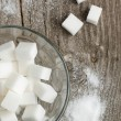 White sugar - Stock Photo