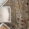 Background with salt and pepper — Stock Photo