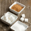 Various of sugar - Stock Photo