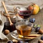 Tea and fruits — Stock Photo #20035173