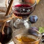 Tea and jam — Stock Photo